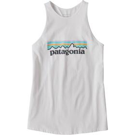 Patagonia Pastel P-6 Logo Organic High Neck Tank Top Damen white